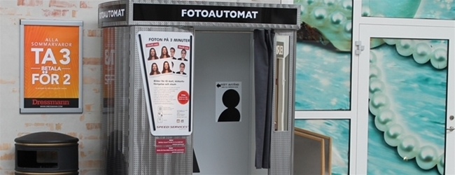 New Photo Booth at Eurostop in Arlanda Stad!