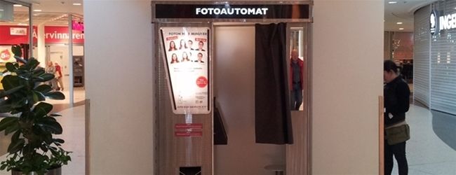 New Photo Booth at Frölunda Torg Shopping Center!