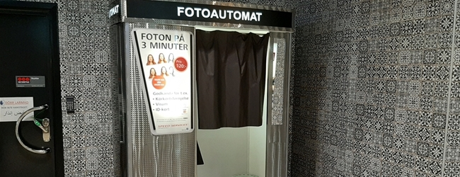 Take your photos in our photo booth in Rosengård Centrum