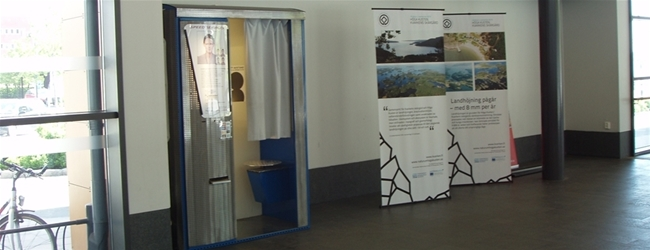 Photo booth at Örnsköldsvik Central station