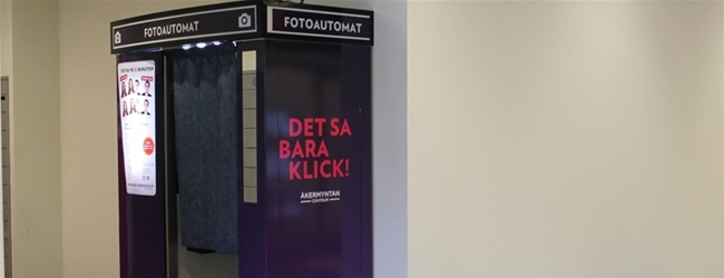 New Photo Booth at Åkermyntan's mall