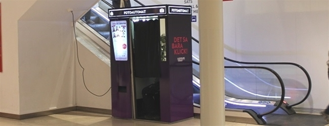 New Photo Booth in the mall at Liljeholmstorget
