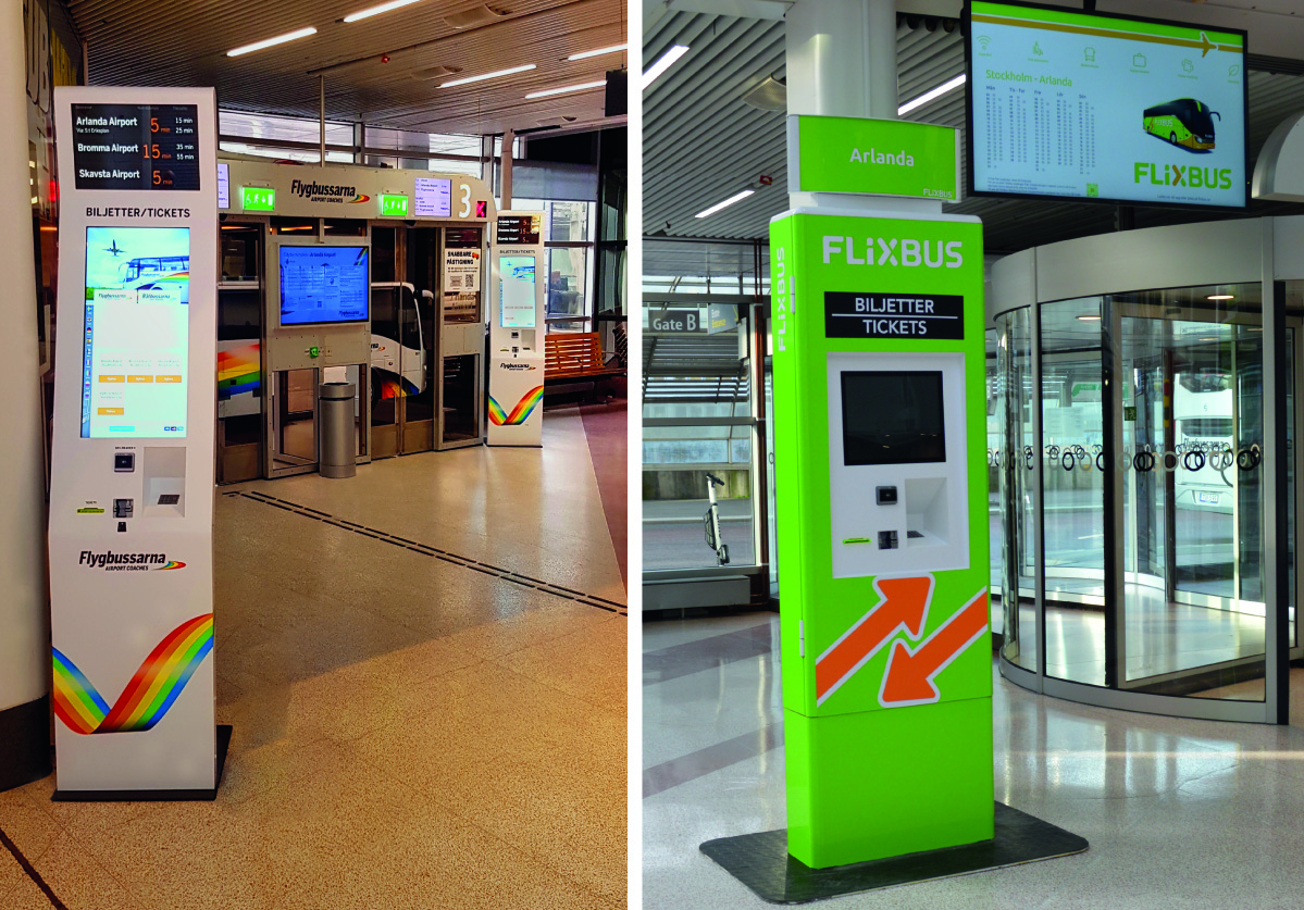 Vending machines at Cityterminal in Stockholm